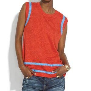 MADEWELL Linen Fieldgoal Muscle Tee Bright Orange